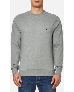 Grey Jacquard Dotted Sweatshirt