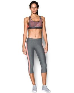 Women's Armour® Crossback Embossed Elastic Sports Bra