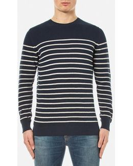 Current Stripe Crew Neck Knitted Jumper