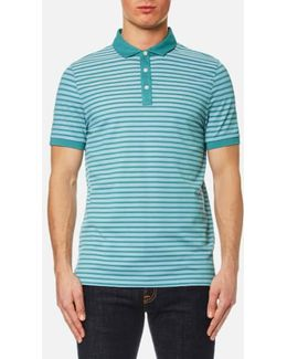 Birdseye Stripe Polo Shirt