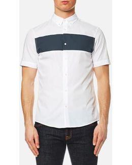 Men's Short Sleeve Colour Block Shirt