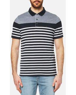Men's Engineer Stripe Polo Shirt