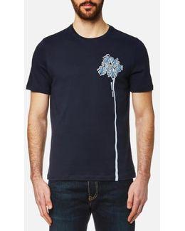 Men's Side Palm Tree Graphic Tshirt
