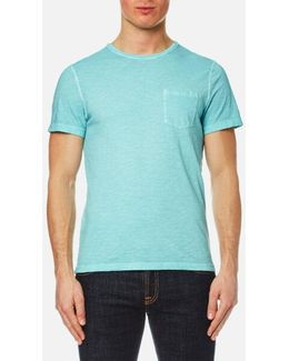 Men's Melange Wash Crew Pocket Tshirt