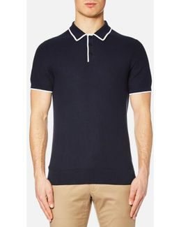 Men's Tuck Stitch Tip Polo Shirt