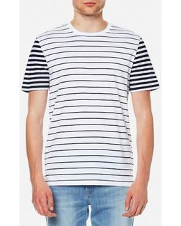 Men's Stripe Block Crew Tshirt