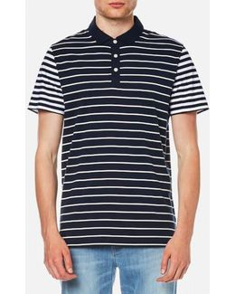 Men's Stripe Block Polo Shirt