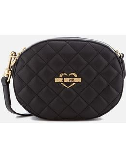 Quilted Round Small Cross Body Bag