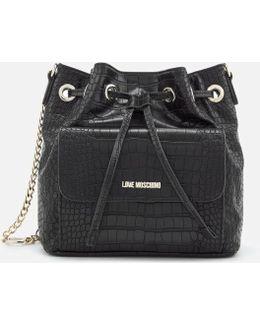 Women's Croc Bucket Bag