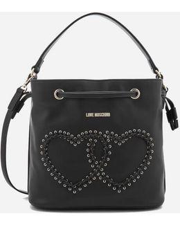 Heart Whipstitch Bucket Bag