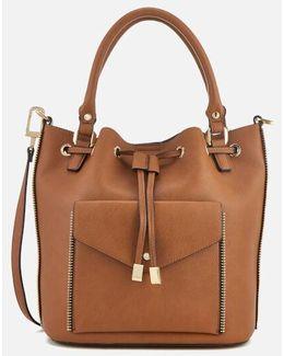 Damzele Drawstring Bucket Bag