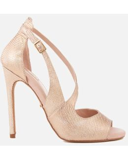 Geep Metallic Heeled Sandals