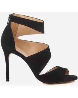 Gene Suede Triple Strap Heeled Sandals