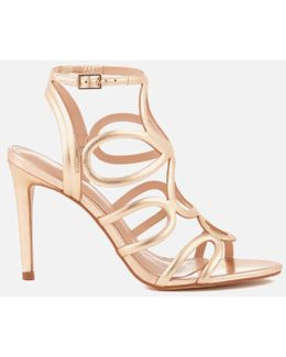 Gabby Leather Strappy Heeled Sandals