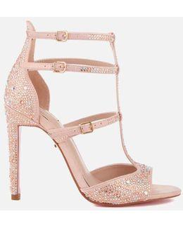 Gaye Glitter T Bar Heeled Sandals