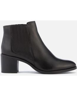 Women's Peter Leather Heeled Ankle Boots