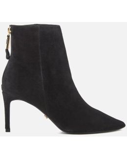Oralia Suede Heeled Ankle Boots