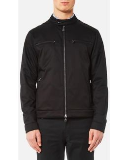 Stretch Nylon Moto Jacket