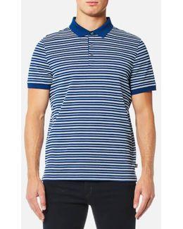 Stripe Jacquard Polo Shirt