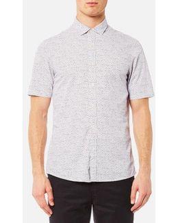 Men's Short Sleeve Slim Benjamin Print Shirt