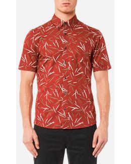 Short Sleeve Slim Dax Print Shirt