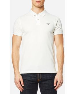 Contrast Collar Pique Short Sleeve Polo Shirt