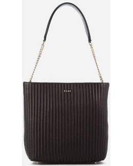 Women's Pinstripe Quilted Shopper Bag