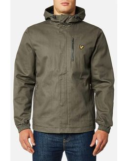 Hooded Curved Hem Jacket