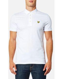Woven Collar Polo Shirt
