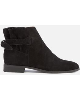 Aretha Suede Flat Ankle Boots