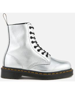 Pascal Metallic Leather 8-eye Lace Up Boots
