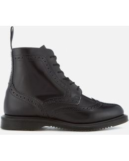 Kensington Delphine Polished Smooth Lace Up Boots