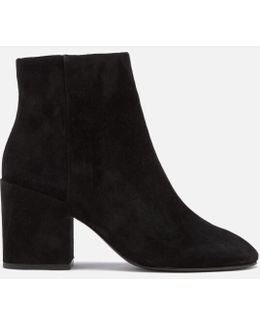 Eden Suede Heeled Ankle Boots