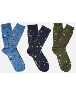 Men's Dog Motif Socks Gift Box