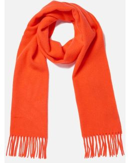Solid Lambswool Woven Scarf
