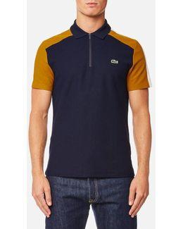 Men's Shoulder Detail Polo Shirt