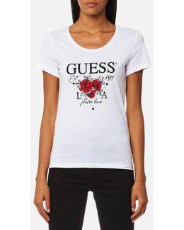 Short Sleeve Rose L.a T-shirt