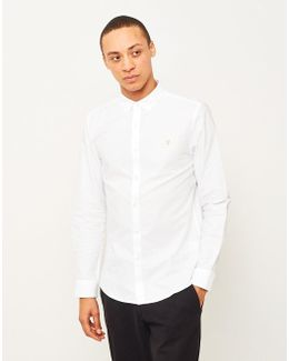 Brewer Long Sleeve Oxford Shirt White
