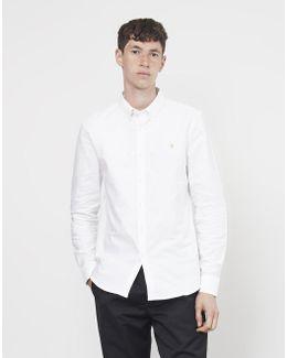 Brewer Long Sleeve Oxford Shirt White