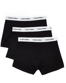 Cotton Stretch 3 Pack Trunk Black