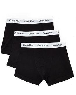Cotton Stretch 3 Pack Trunk Black