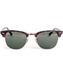 Iconic Folding Clubmaster Sunglasses Rb2176 990