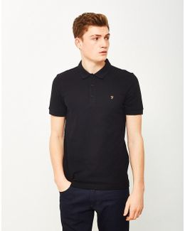 Blaney Short Sleeve Polo Shirt Black