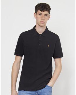 Blaney Short Sleeve Polo Shirt Black
