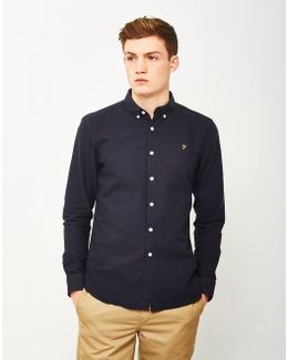 Brewer Long Sleeve Oxford Shirt Navy
