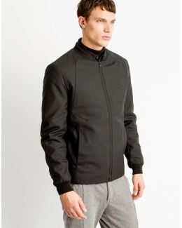 Clean Bomber Jacket Black