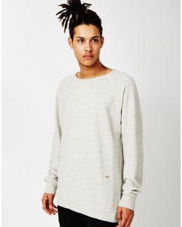 Raw Jersey Limbar Sweatshirt Snow Heather