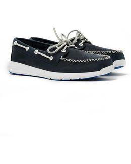 Sojourn 2-eye Leather Boat Shoe Navy