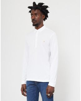 Merriweather Long Sleeve Polo Shirt White