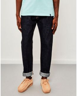 Classic, Regular Tapered, Made In Japan Rainbow Selvedge Jeans, Unwashed